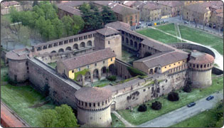Rocca Sforzesca - aerial photo