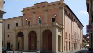 Ebe Stignani municipal theatre - external façade