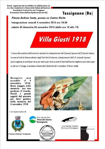 Mostra - Villa Giusti 1918