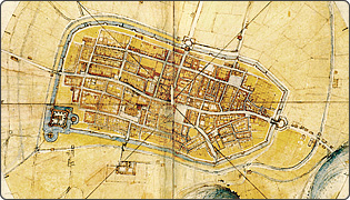 Map of Imola - painted by Leonardo Da Vinci
