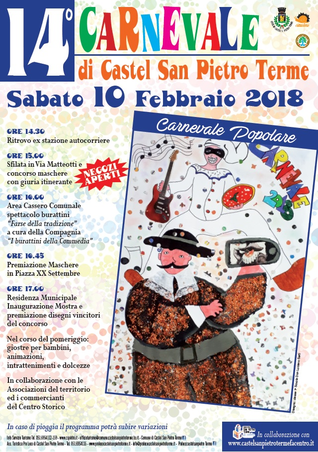 Carnevale nella città di Castel San Pietro Terme